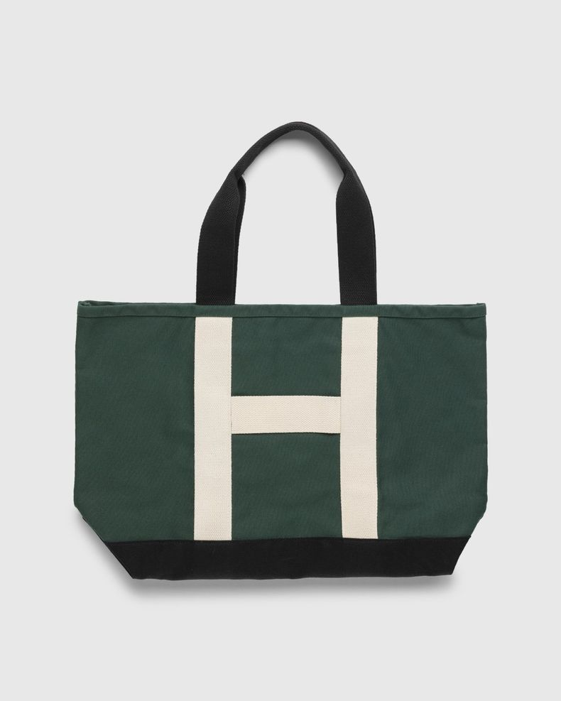 Highsnobiety – Heavy Canvas Large Shopper Tote Green