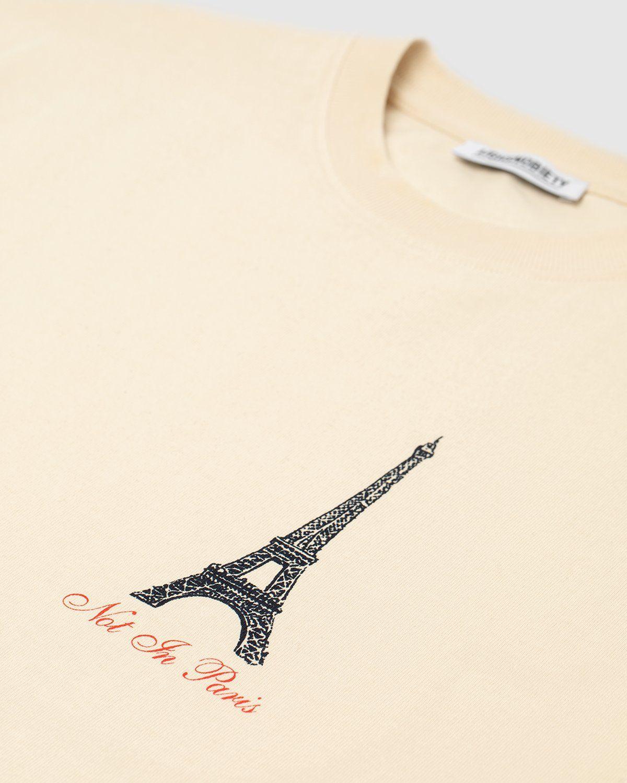 Highsnobiety — Not In Paris Eiffel Tower T-Shirt Eggshell - Image 3