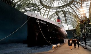 Chanel Set Sail on an Actual Ship for Cruise 2019 Runway Show
