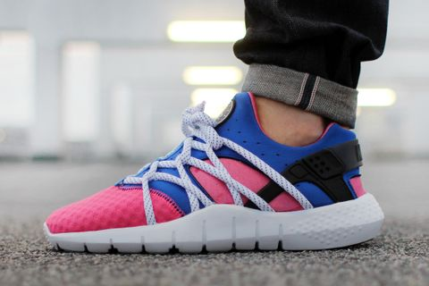 innovative design d7d57 337d0 The summer-perfect Huarache NM from Nike will soon be releasing in a bright  pink and blue colorway. The two-tone take boasts the new and improved ...
