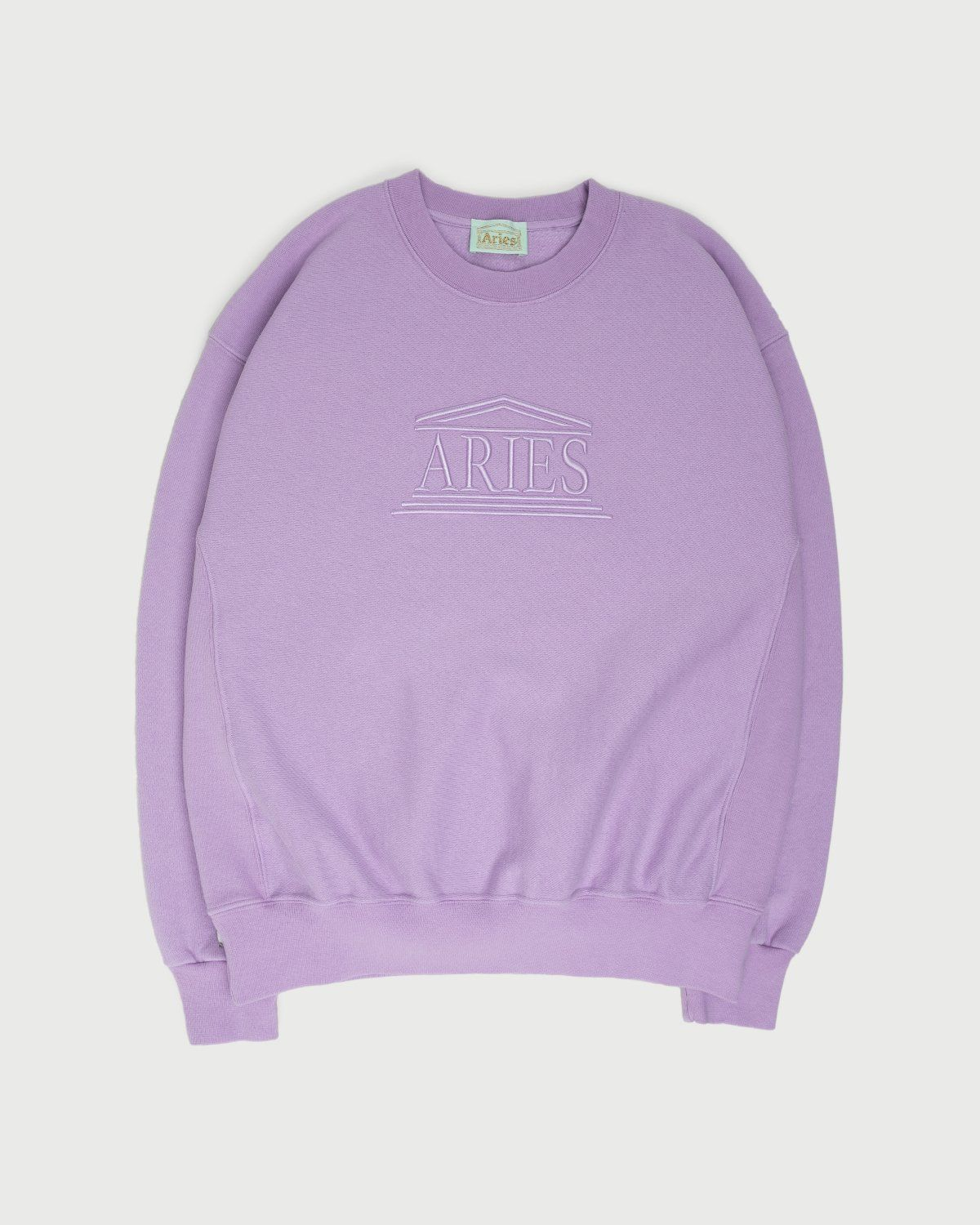 Aries - Embroidered Temple Sweatshirt Unisex Orchid - Image 1