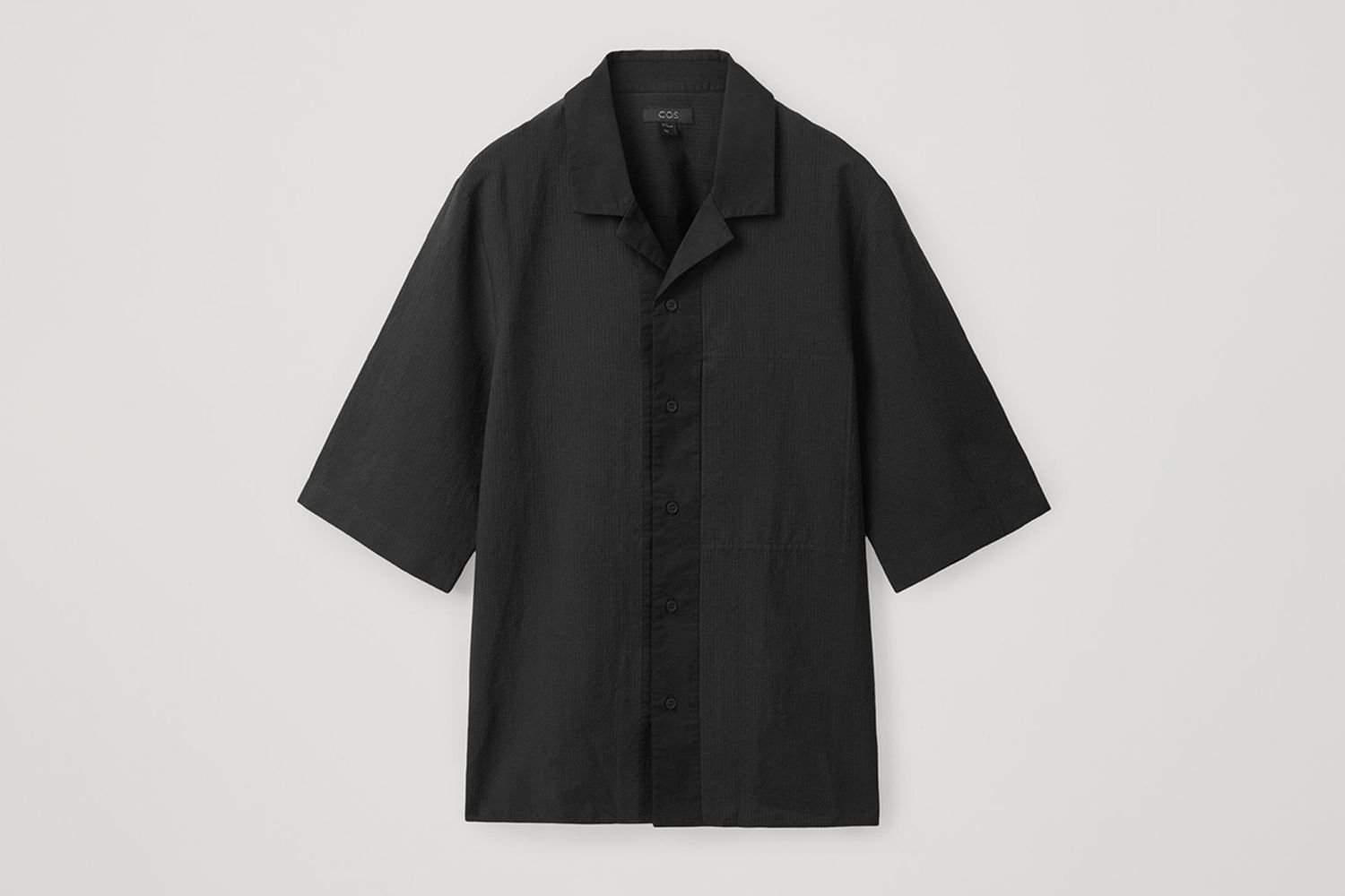 Camp Collar Organic Cotton-Linen Shirt
