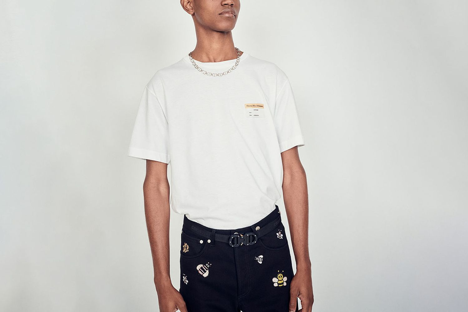 """Cotton T-Shirt """"Visitor Patch"""""""