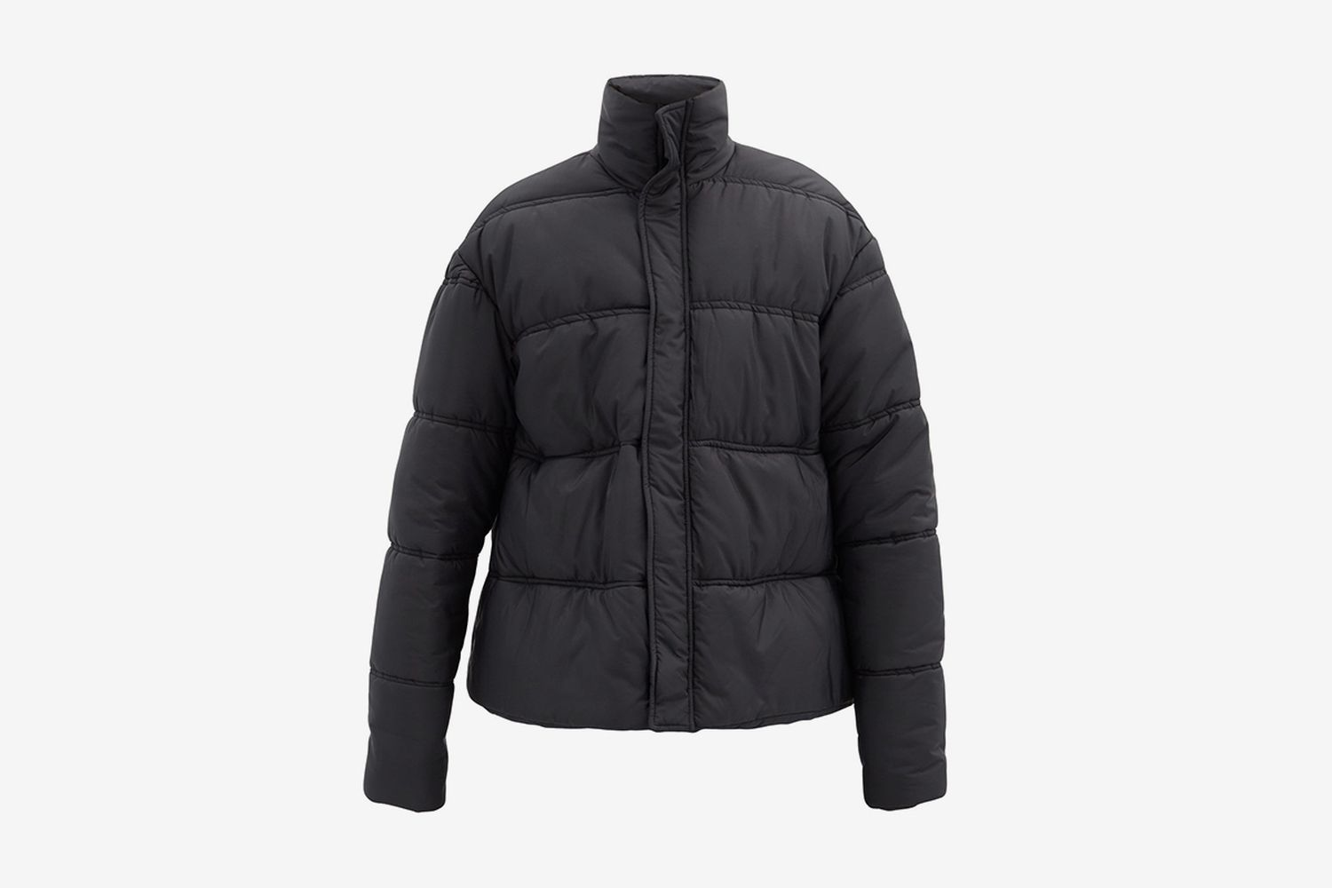 Oversized Quilted-Shell Jacket