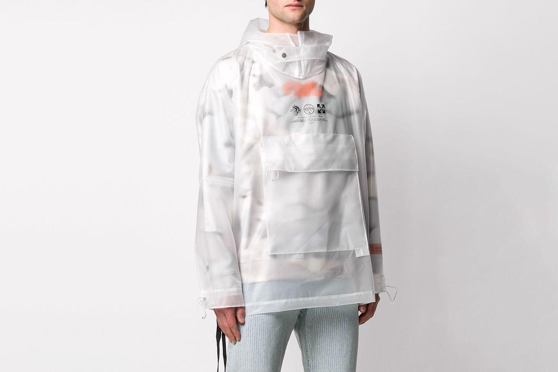 Printed Detail Folding Coat