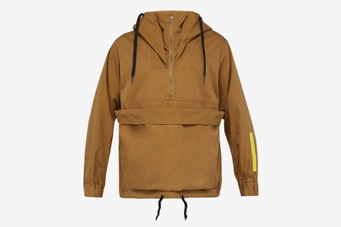 Overlapping Waves Hooded Cotton-Blend Jacket