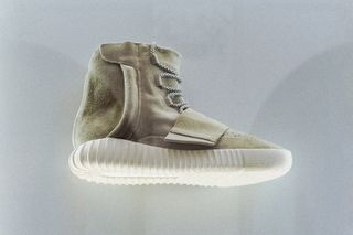 68f55aedb6c8 Kanye West x adidas Yeezy 750 Boost Already on Display in New York