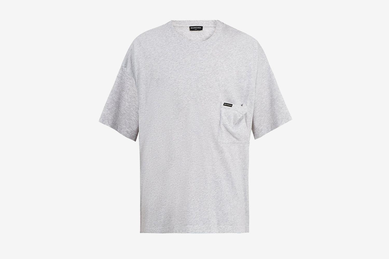 Oversized Logo Print Cotton Jersey T-Shirt