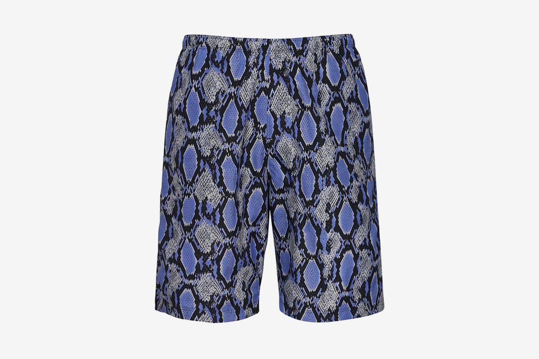 Python Print Nylon Swim Shorts