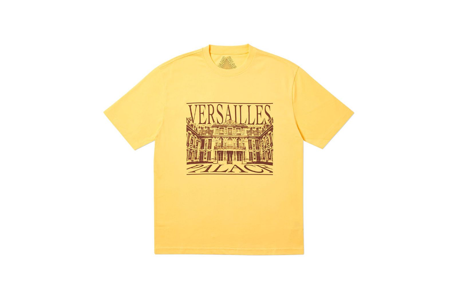 Palace 2019 Autumn T Shirt Versailles yellow 14764 straightened