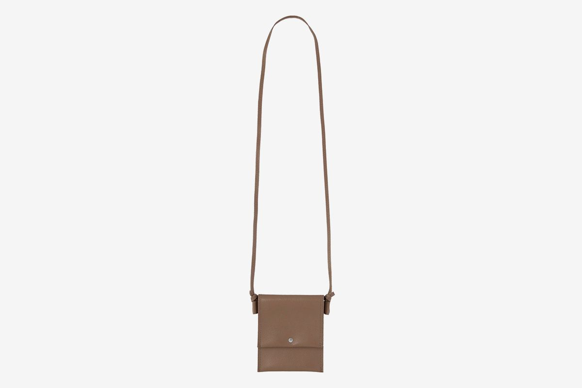 Shrink Leather Neck Pouch