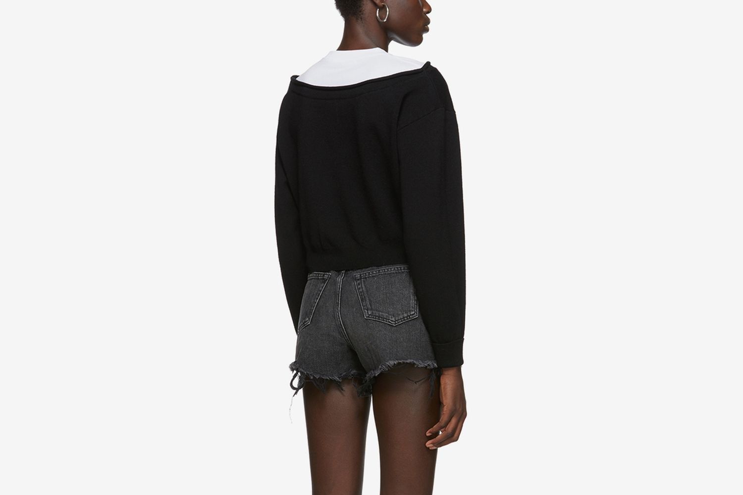 Cropped Bi-Layer Sweater