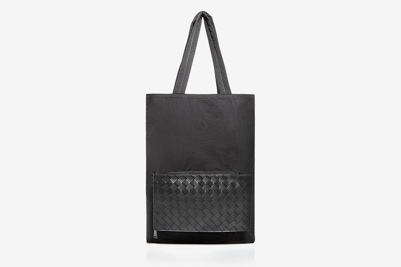 1.5 Intrecciato Nylon & Leather Tote Bag