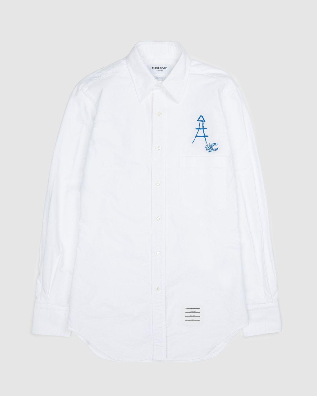 Colette Mon Amour x Thom Browne — White Eiffel Classic Shirt - Image 1