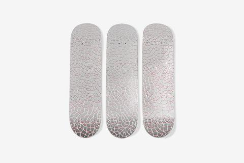 Yayoi Kusama Infinity Nets Skateboard Triptych