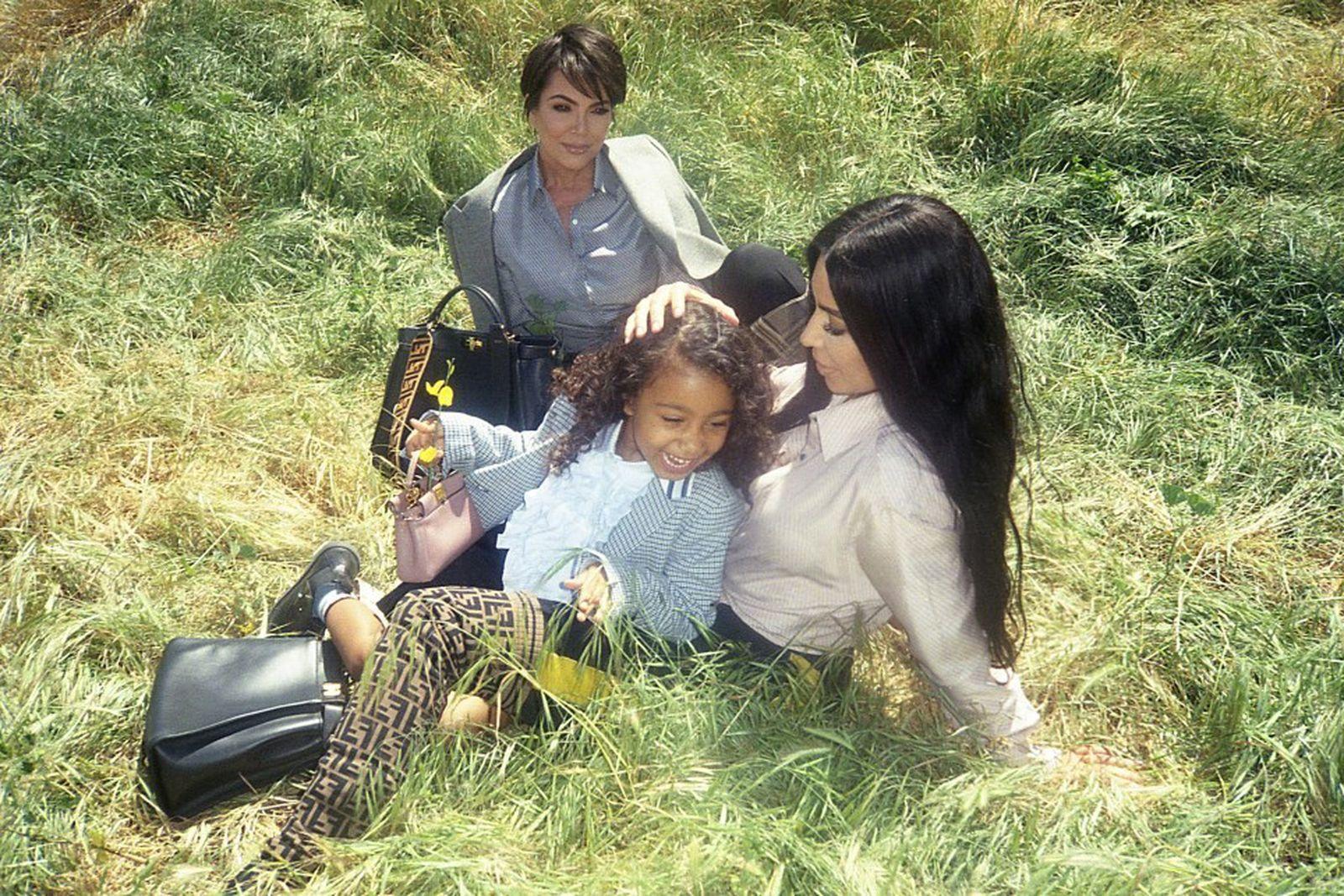 north west fendi campaign kim kardashian kris jenner Kim Kardashian West adidas by Stella McCartney byredo