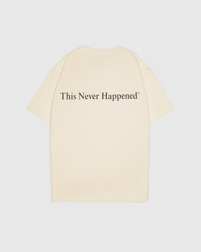 Highsnobiety — This Never Happened 2020 T-Shirt Eggshell