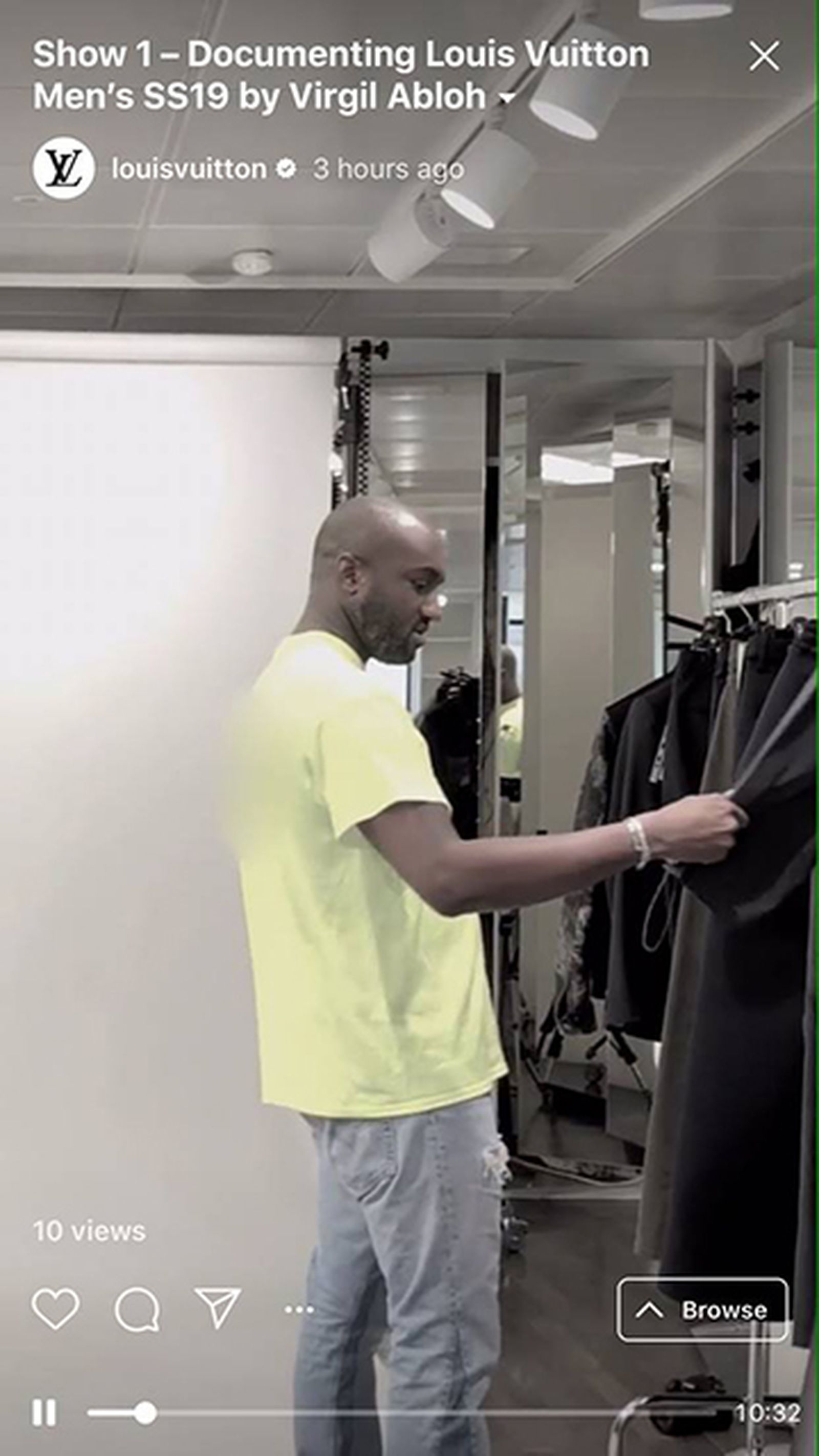 Virgil Abloh Makes His First Louis Vuitton Collection on IGTV