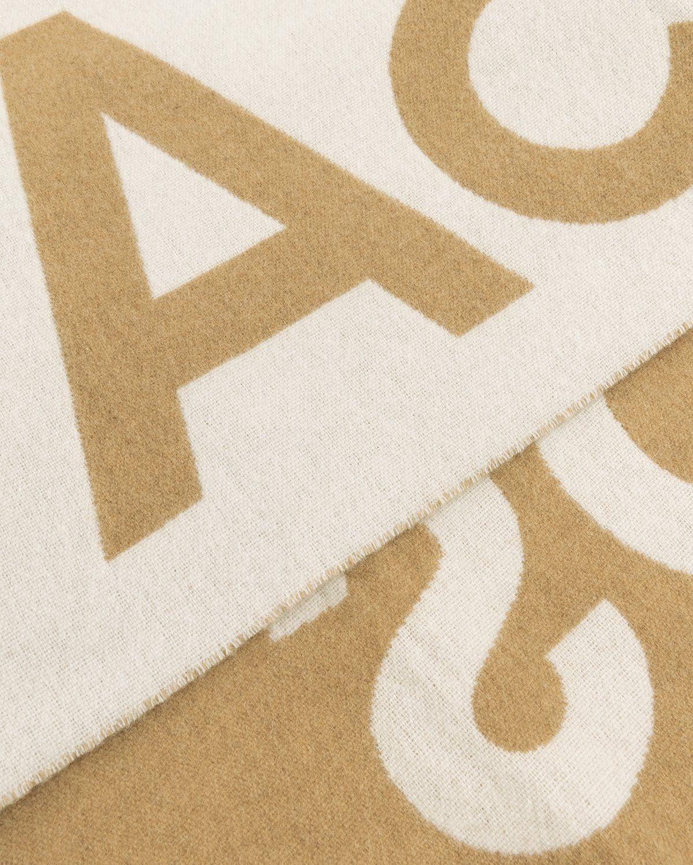 Acne Studios – Toronto Logo Scarf Brown - Image 5