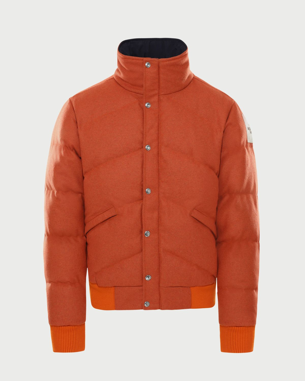 The North Face Brown Label — Larkspur Wool Down Jacket Heritage Orange Men - Image 1
