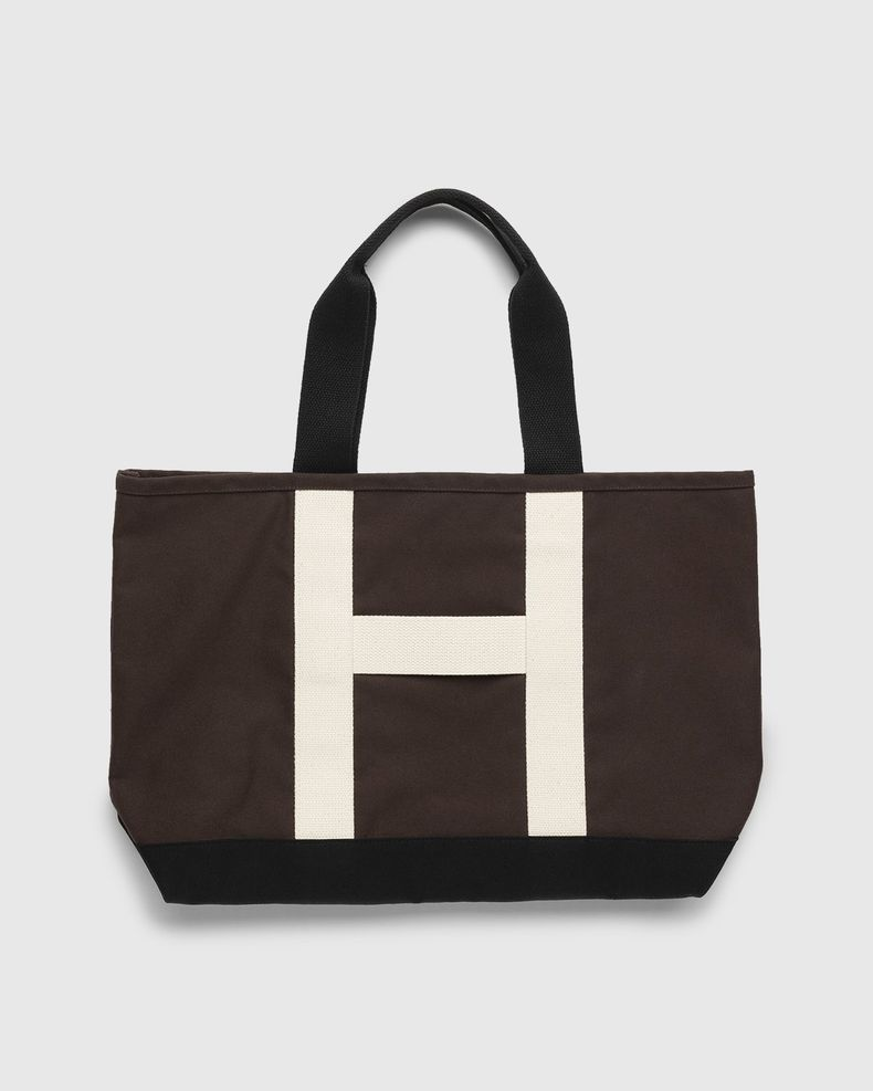 Highsnobiety – Heavy Canvas Large Shopper Tote Brown