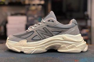 "low priced c4e65 71436 New Balanciaga"" 990v4 Triple S: The Ultimate Dad Shoe"
