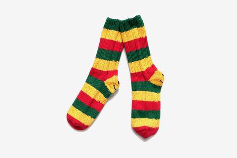 Rasta Smilie Socks
