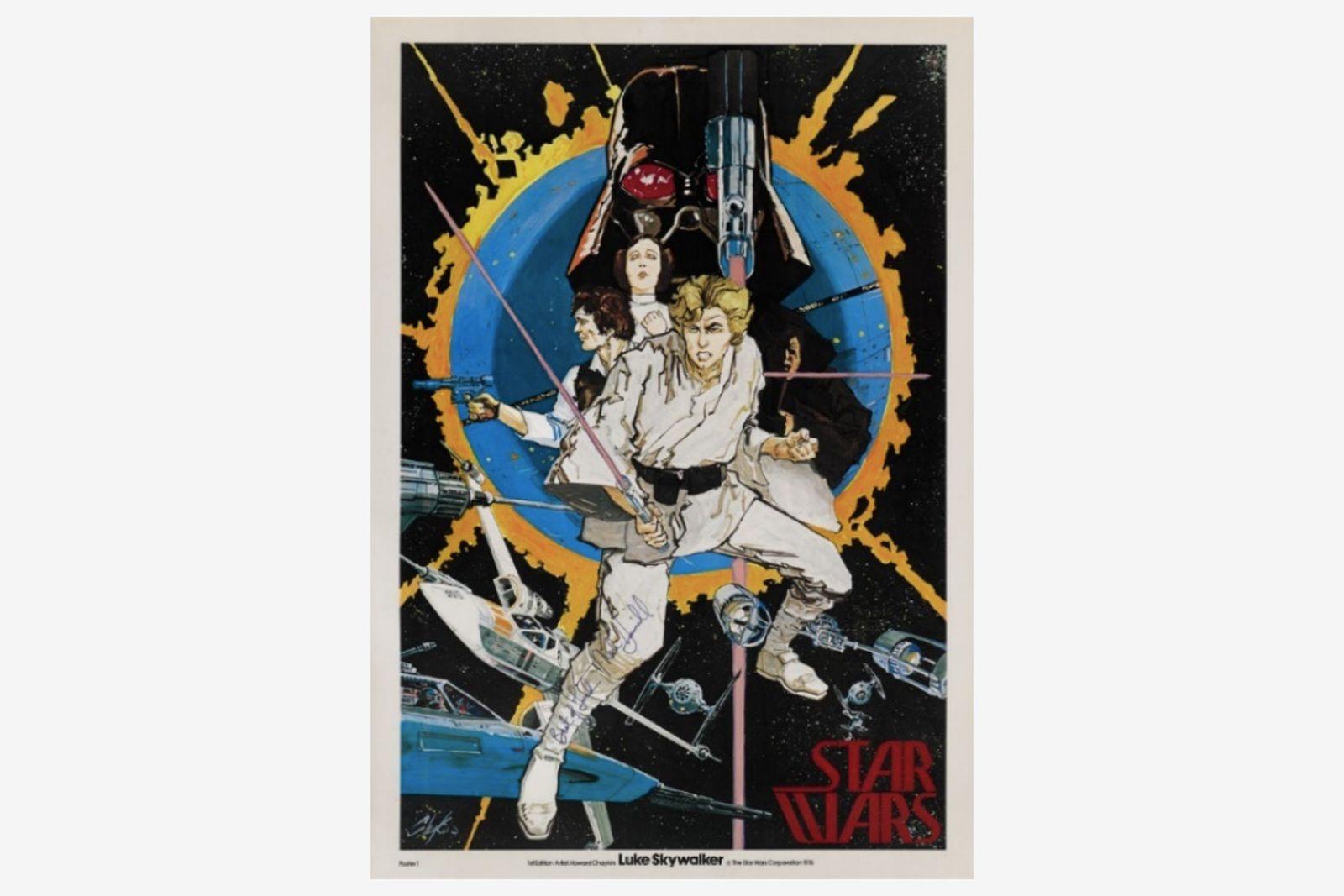 'Star Wars' poster, Howard Chaykin, US, 1976, signed by Mark Hamill