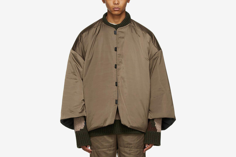 Reversible Mandarin Puffer Jacket