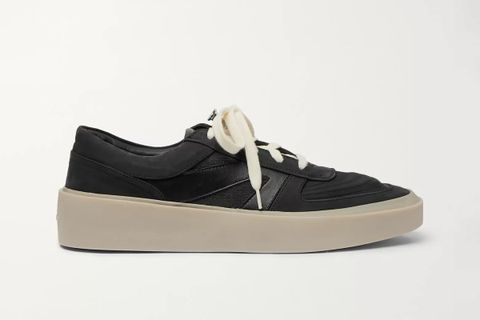 Leather, Nubuck and Mesh Sneakers