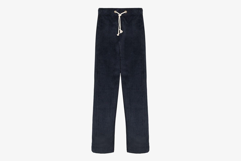 Corduroy Wide Leg Track Pants