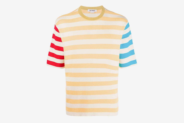 Colour Block Stripe T-Shirt