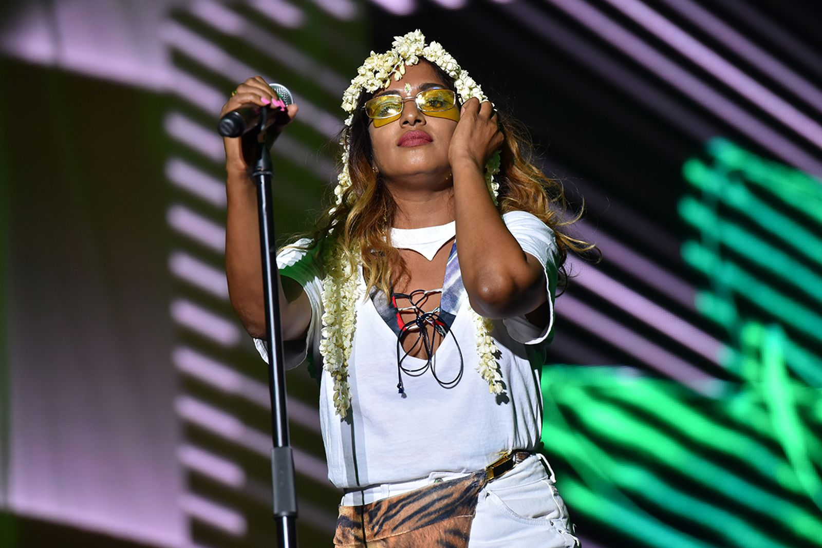 M.I.A. performing