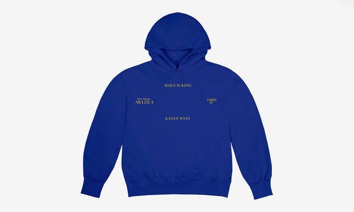 Kanye West 'Jesus is king' blue hoodie
