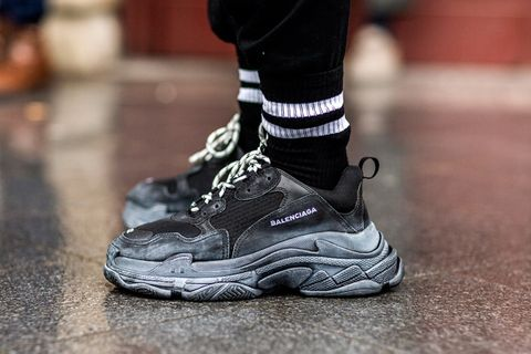 17cc56779c68 Balenciaga s Triple S silhouette was hands down the most popular chunky  sneaker of 2017