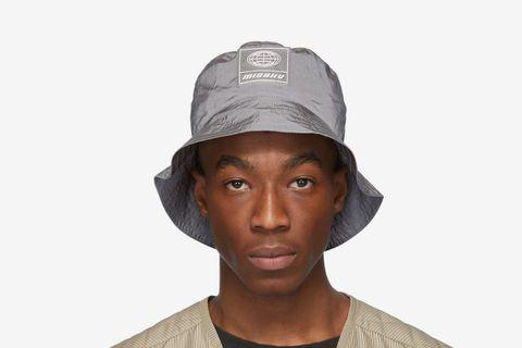 Grey Nylon Bucket Hat