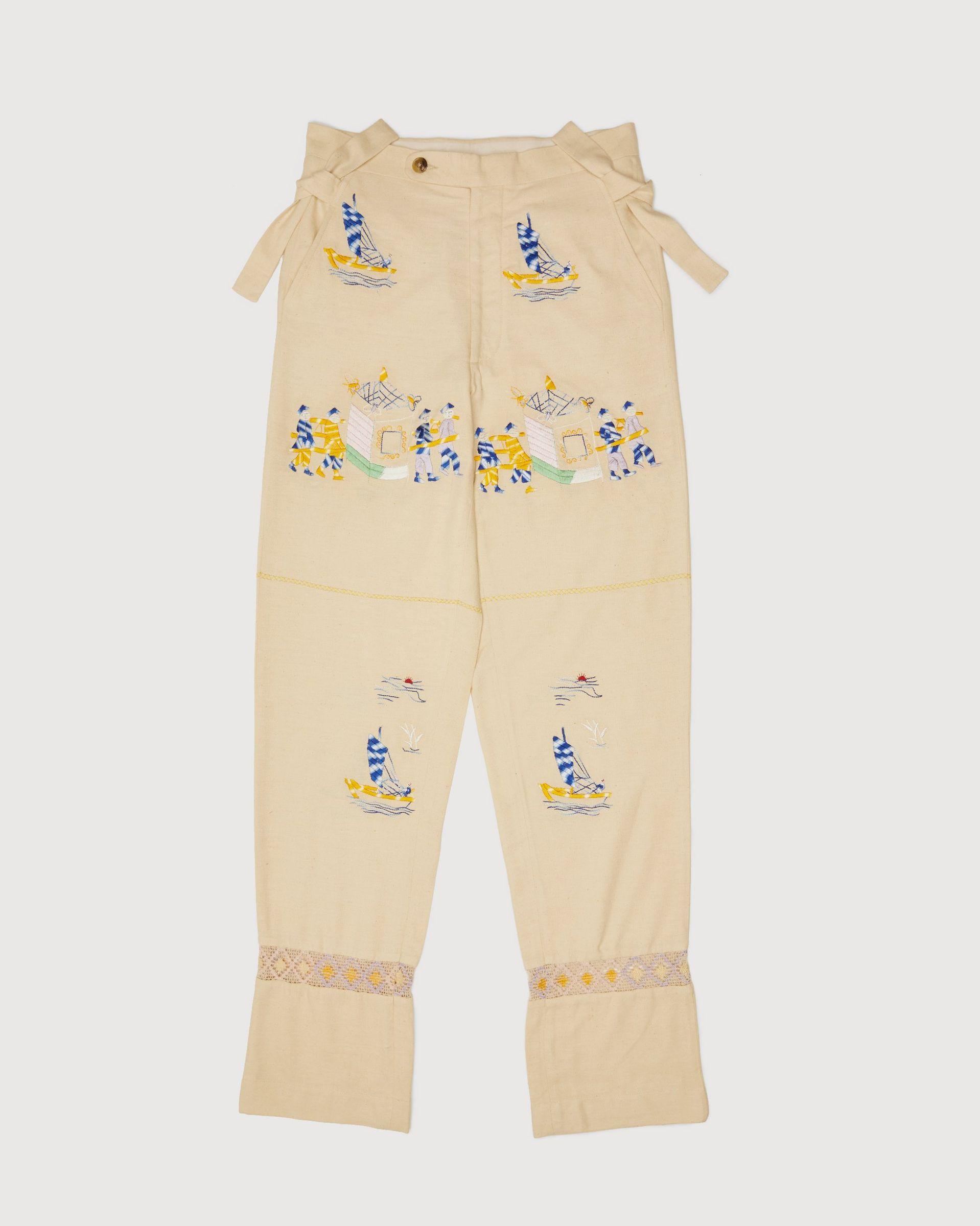 BODE - Sailing Tableau Trousers Tan - Image 1