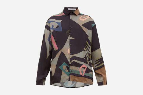 Samuel Abstract-Print Aatin Shirt