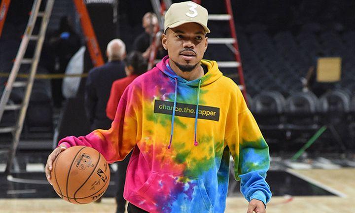 chance the rapper tie-dye hoodie basketball