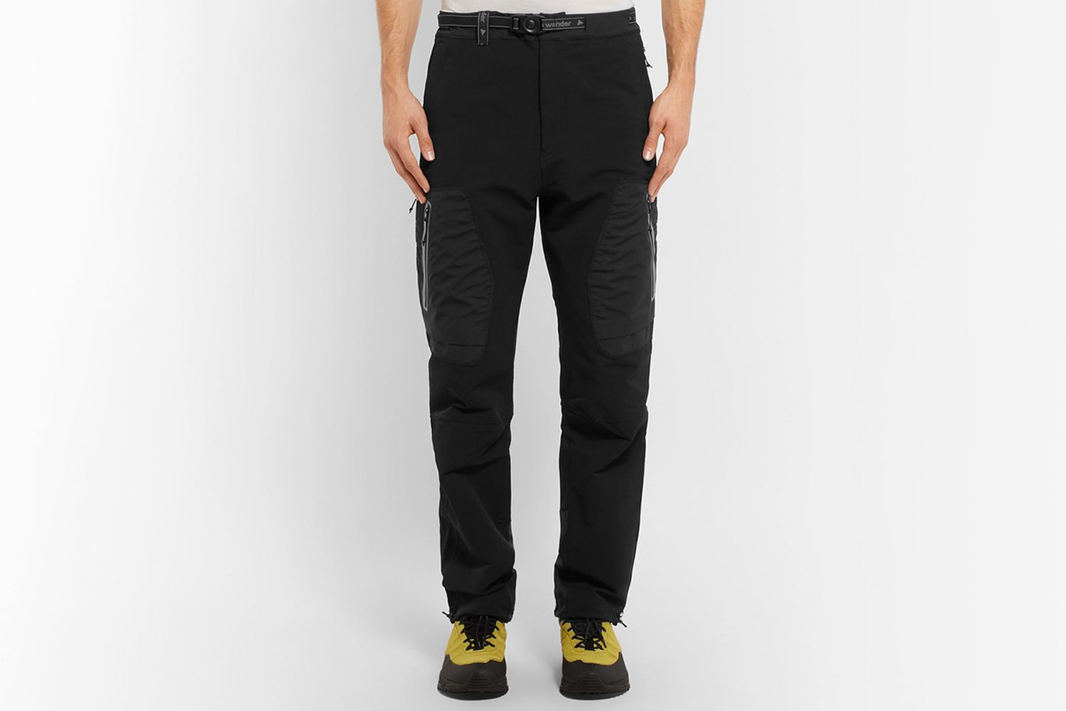 Reflective-Trimmed Shell Tapered Trousers