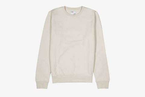 Ecru Cotton Sweatshirt