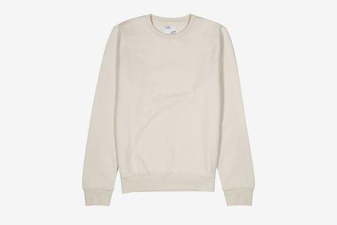 Ecru Cotton Sweatshirt
