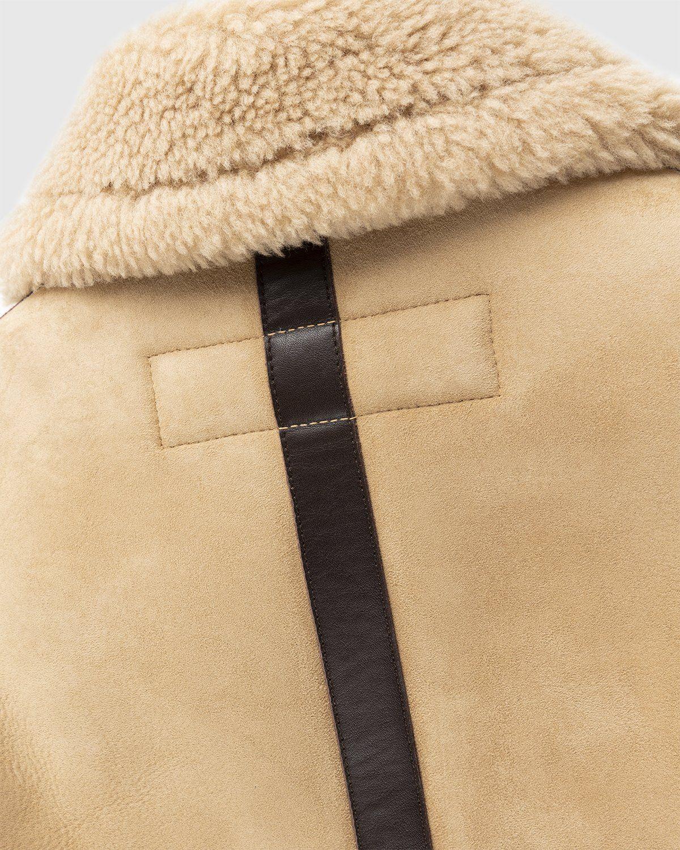 Acne Studios – Shearling Leather Jacket Almond Beige - Image 4