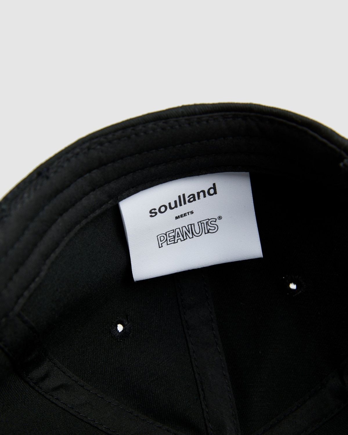 Colette Mon Amour x Soulland -  Snoopy Heart Black Baseball Cap - Image 3