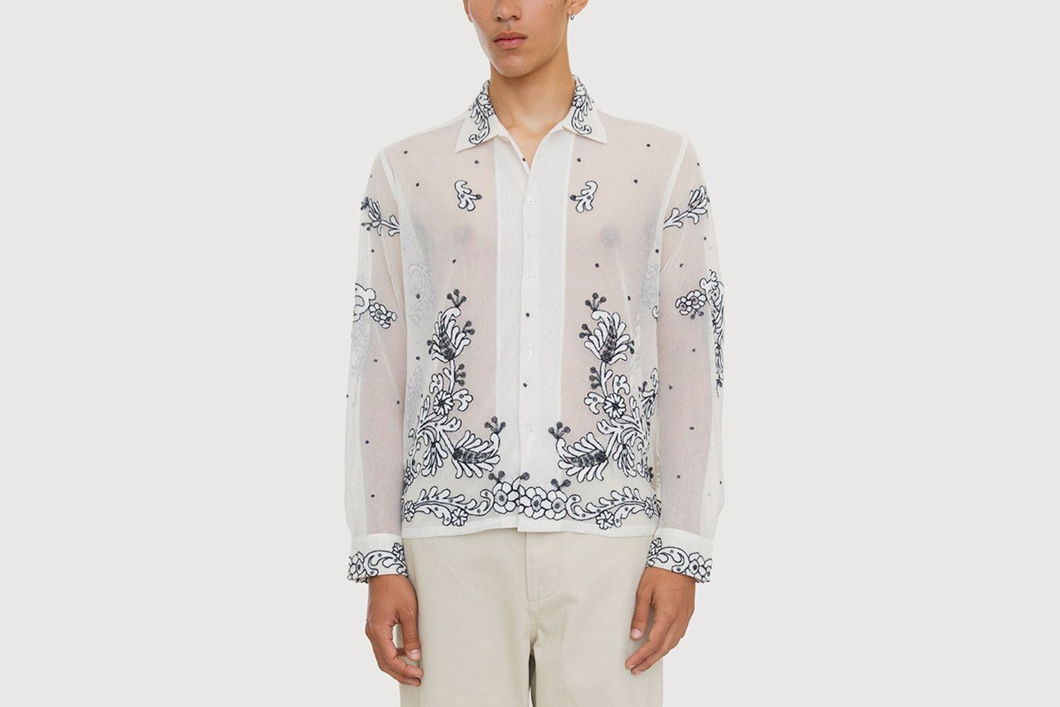 Bevel Embroidered Longsleeve Shirt