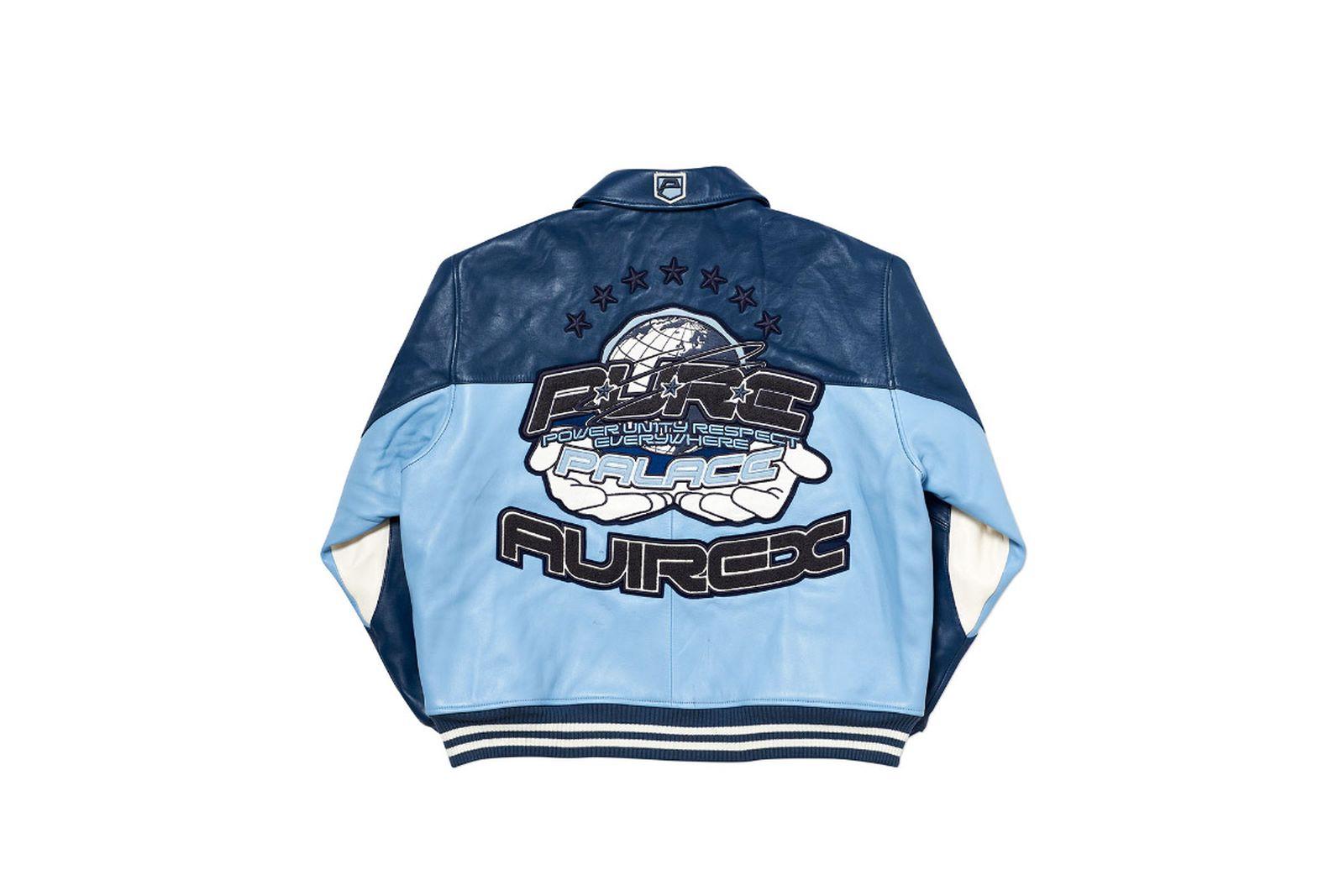 Palace 2019 Autumn Jacket Avirex blue back fw19