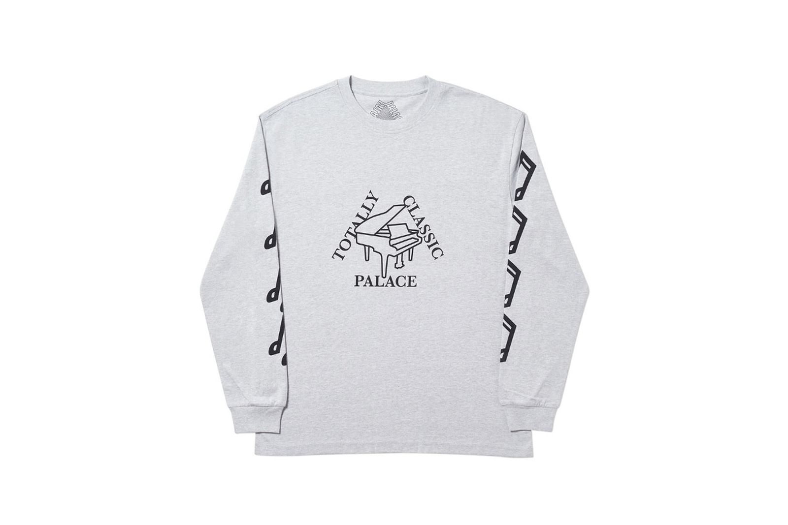 Palace 2019 Autumn Longsleeve Classis grey marl front