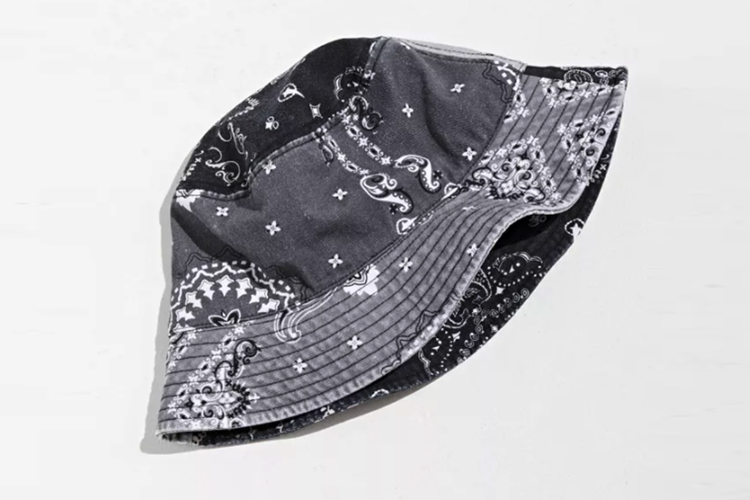 Washed Paisley Patchwork Bucket Hat