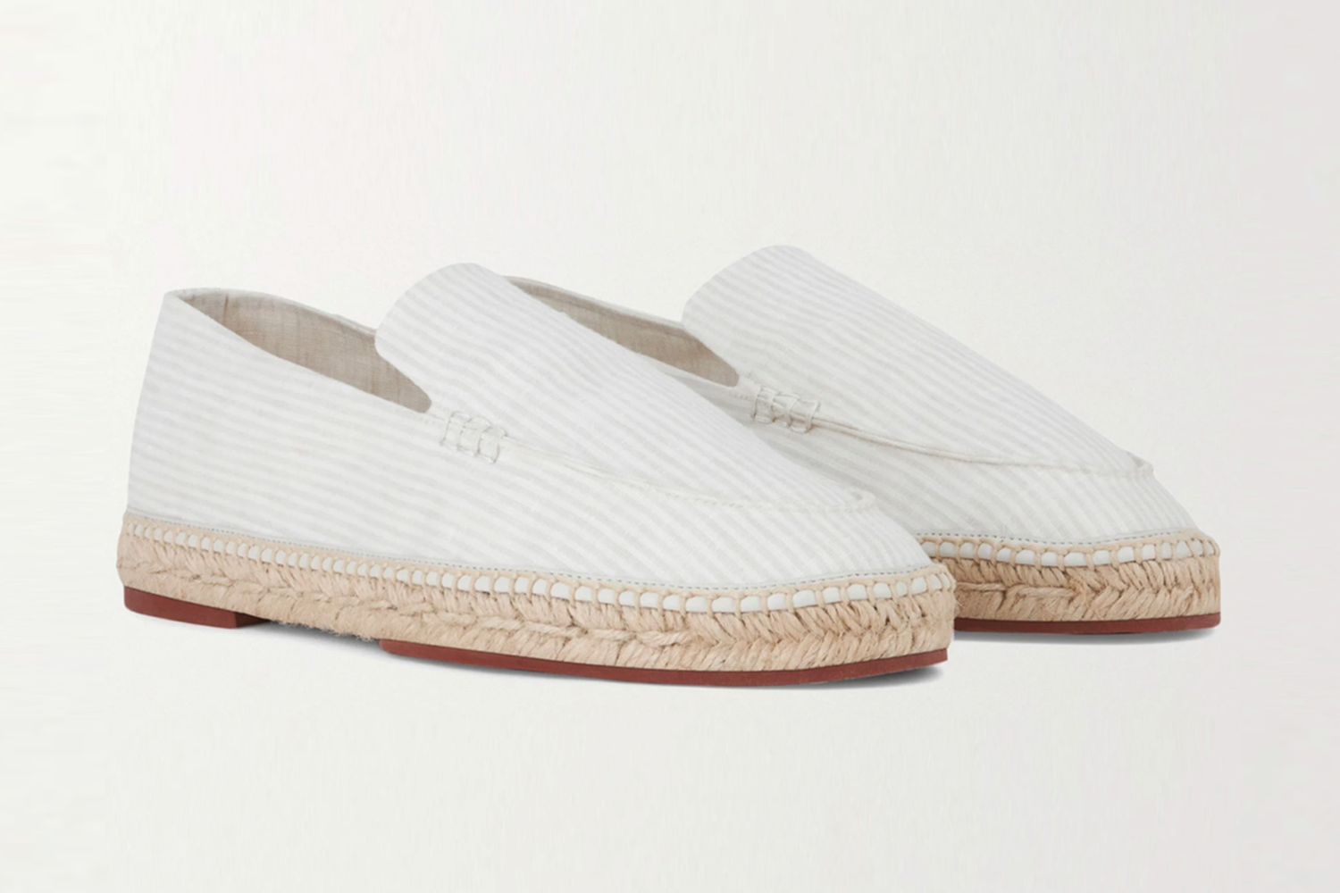 ]Seaside Walk Striped Linen Espadrilles