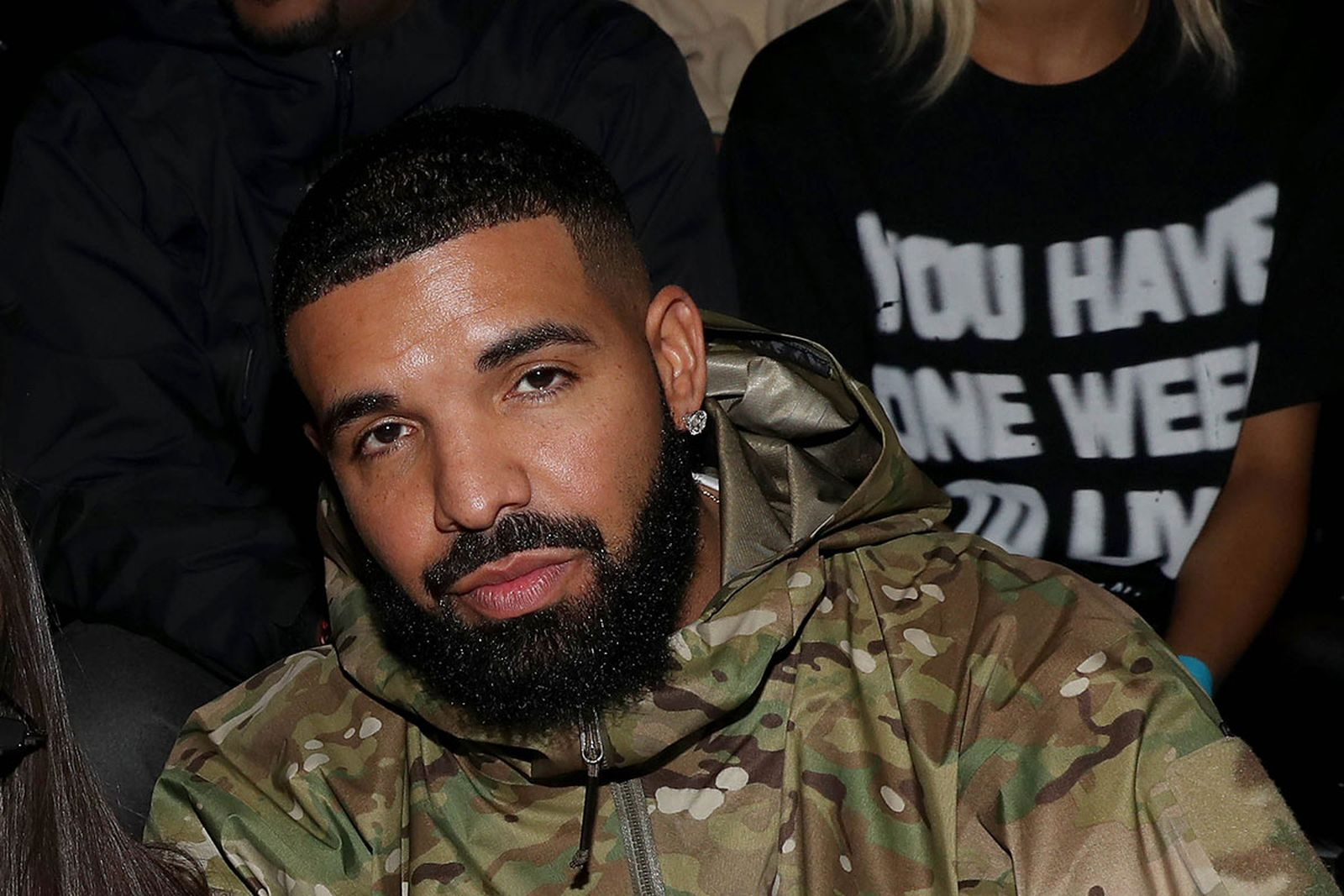 Drake attends the Nike 2020 Tokyo Olympic collection fashion show
